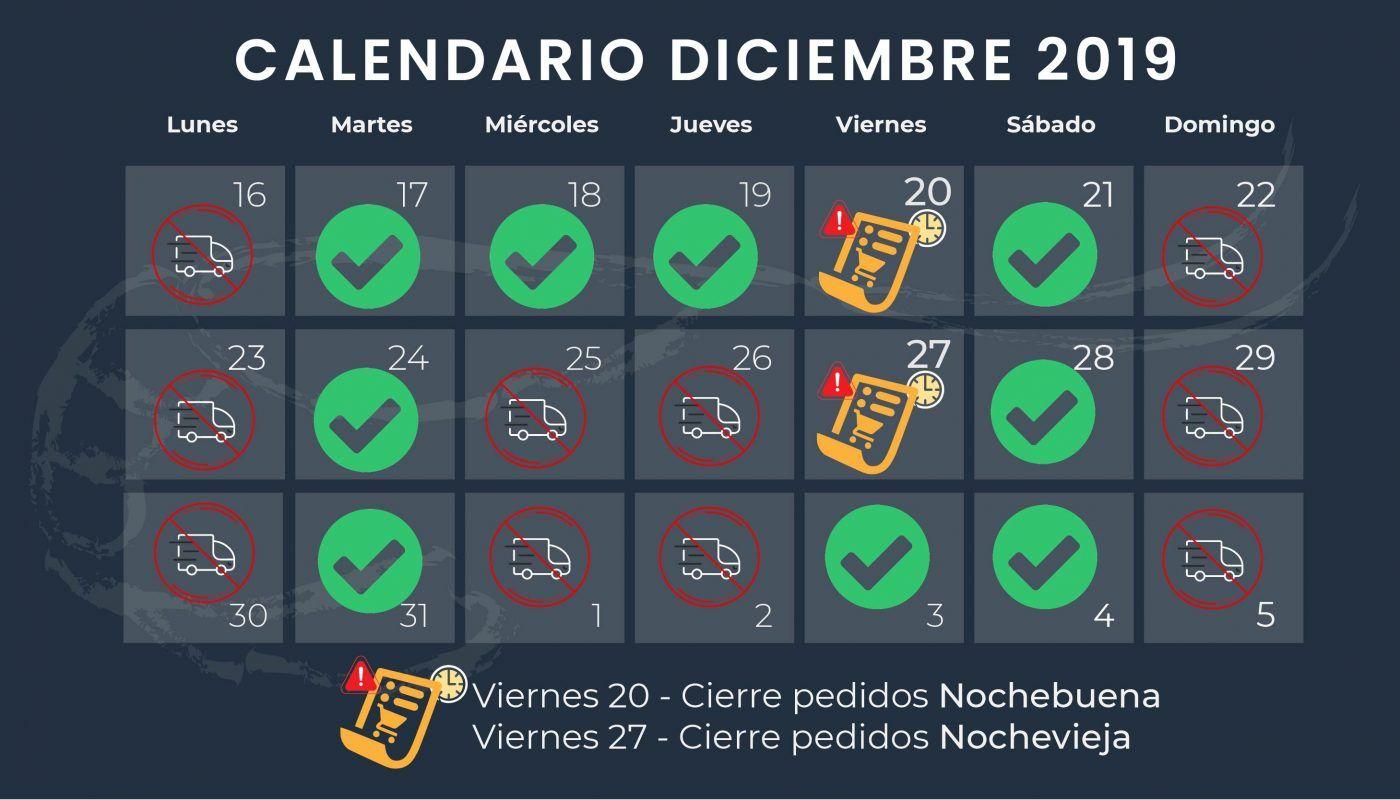 Marisco a domicilio en Navidad, consulta el calendario de pedidos y entregas de Saborea Huelva.